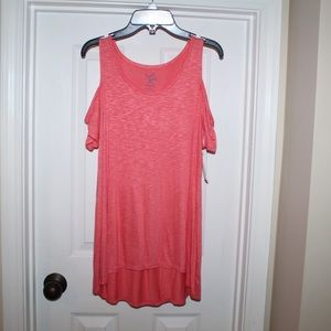NWT cold shoulder tunic